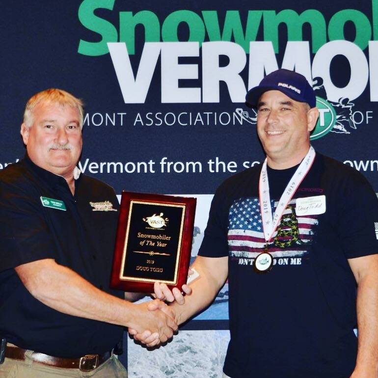 CONGRATULATIONS DOUG TODD VAST SNOWMOBILER OF THE YEAR